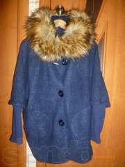 пальто новое темно синее