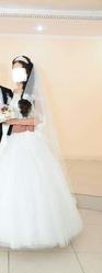 Продам счастливое свадебное платье! 20000 тенге!